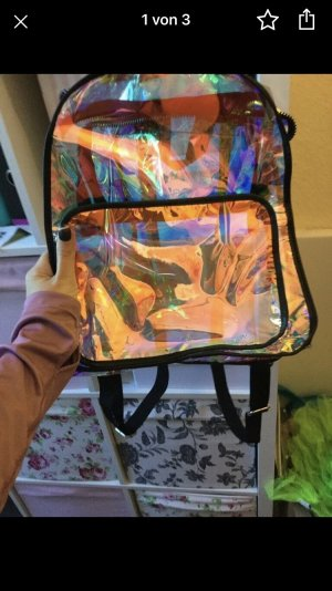 School Backpack gold-colored