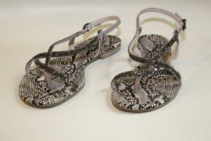 Glitzer Sandalen Größe 40 Swarovski-Steine Kennel und Schmenger Schlangenprint