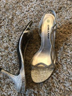 Sandalo con cinturino argento