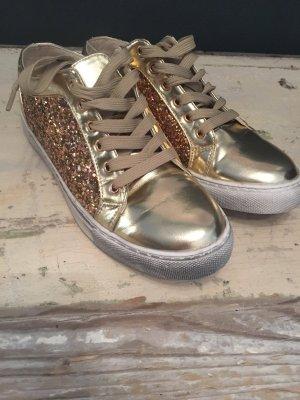 Glitzer Schuh Gold ❤️❤️❤️38 neu preis 69€ ❤️Frühjahrs reduziert ⛔️