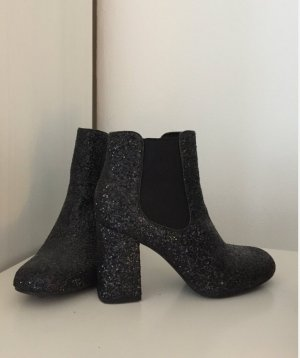 Glitzer Schuhe mit Absatz