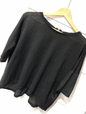 Glitzer Shirt dreiviertelarm oversize
