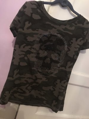 Glitzer skull Strass top
