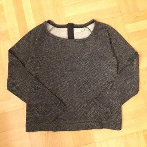 #Glitzer Sweat-Shirt #Zipper am Rücken