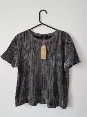 Glitzer T-Shirt in silber/grau
