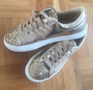 Glitzer Trainers in gold