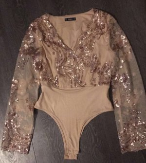 SheIn Camicetta body color carne-color oro rosa