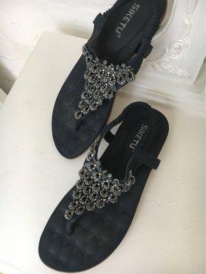 Sandalo Dianette blu scuro-blu