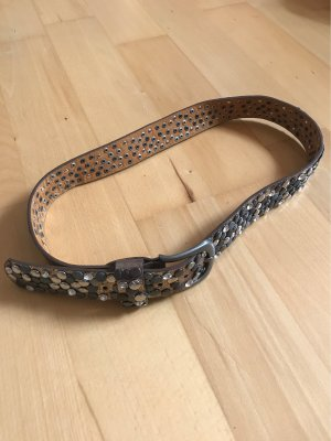 Cintura borchiata bronzo-argento