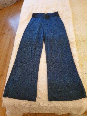 Selected Femme Pantalon Marlene bleu viscose