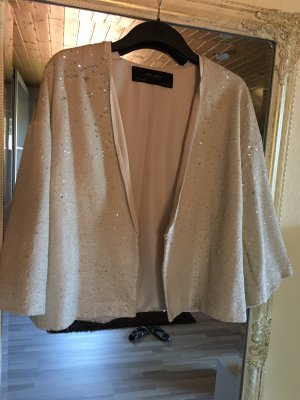 Glitzerjacke/Kimono Silber/Gold Zara mit Pailetten