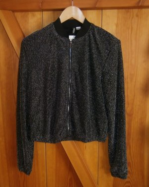 H&M Blouson black-silver-colored