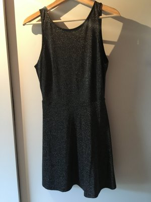 H&M Midi Dress black-silver-colored