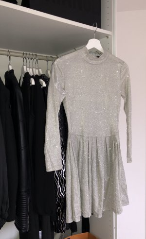 Mini Dress silver-colored