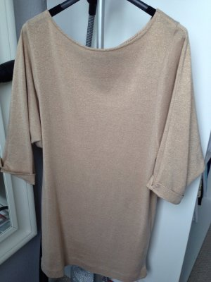 Glitzerkleid nude metallic von zara Woman