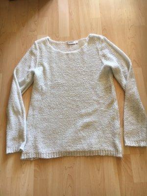 glitzernd weißer Pullover