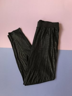 Monki Jeggings negro-color oro