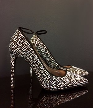 Glitzernde Samt-Pumps