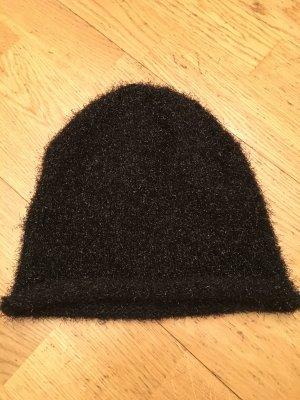 Glitzernde schwarze Mütze