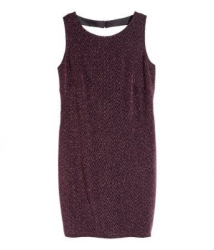 Glitzerndes Kleid in Lila von H&M