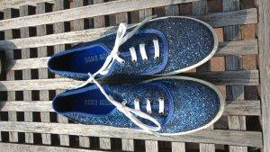 Glitzerne Halbschuhe blau