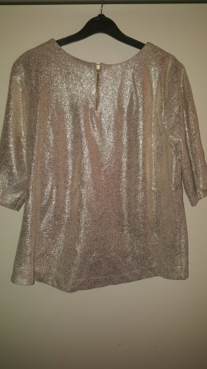 Cowl-Neck Shirt silver-colored-gold-colored