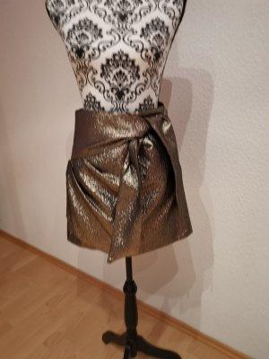 Mango Mini rok zwart-goud