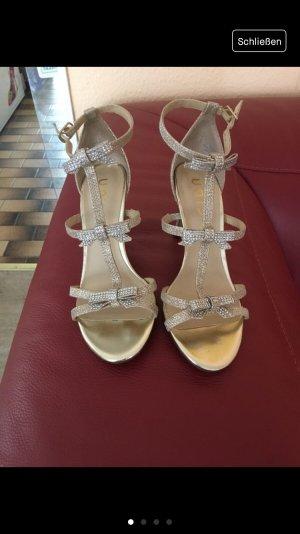Unisa T-Strap Sandals rose-gold-coloured