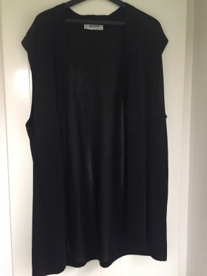 Long Knitted Vest black