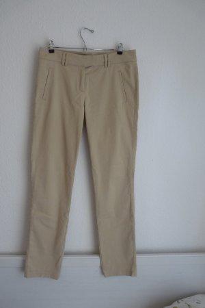 Globus Essentials Damenmode Hose M 40 beige Business Casual Look Basic Designer Fashion Blogger