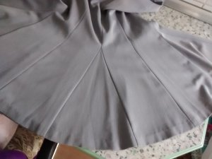 Together Flared Skirt silver-colored-light grey polyester