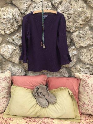 Glockenärmel-Bluse-Shirt