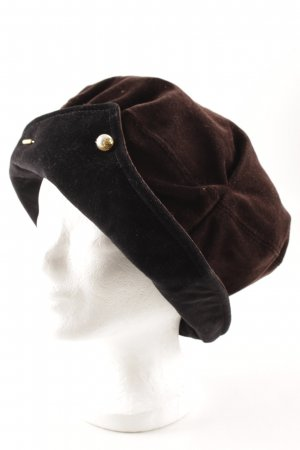 Chapeau cloche brun noir-noir style décontracté
