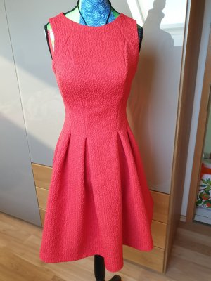 Glockenkleid mit Muster einfarbig