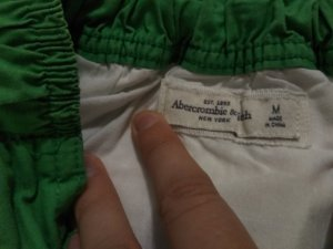 Abercrombie & Fitch Flared Skirt white-green