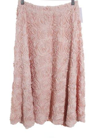 Falda acampanada rosa empolvado elegante