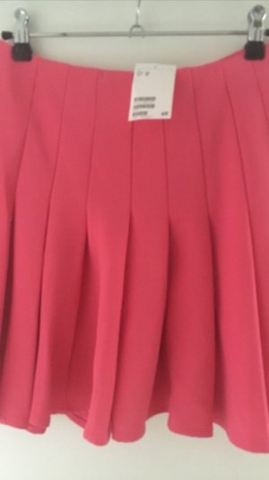H&M Jupe évasée rose