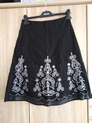 Flared Skirt black-silver-colored