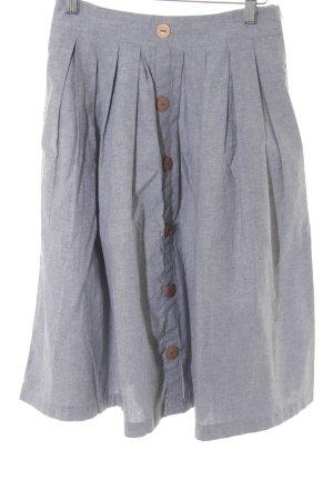 Falda acampanada gris pizarra-marrón claro moteado look casual