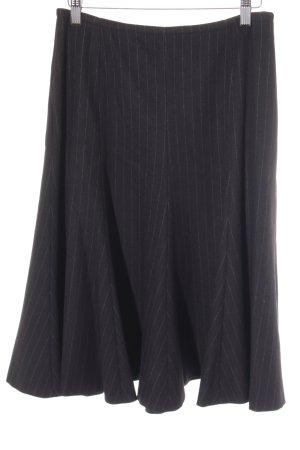 Klokrok zwart-grijs krijtstreep zakelijke stijl