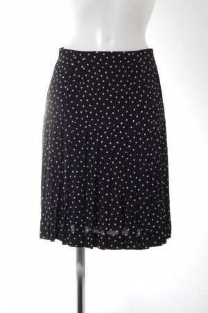Glockenrock schwarz-weiß Punktemuster Casual-Look