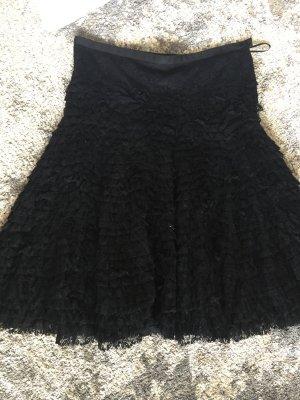 Glockenrock, schwarze Spitze, Mango suit, in S