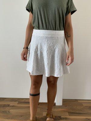 H&M Flared Skirt white
