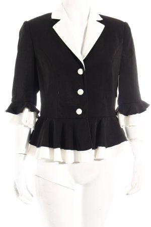 Glööckler Kurzjacke schwarz-weiß 70ies-Stil