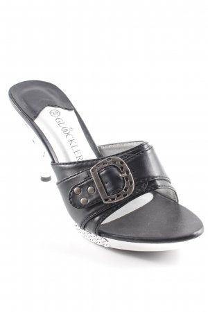 Glööckler Platform High-Heeled Sandal black-silver-colored extravagant style