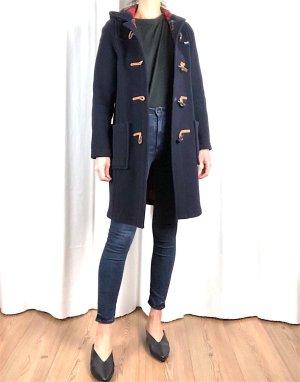 Duffle-coat bleu foncé-rouge foncé