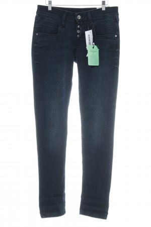 Glücksstern Carrot Jeans dark blue casual look