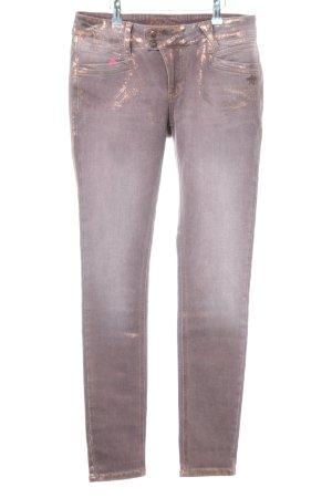 Glücksstern Slim Jeans bronzefarben-goldfarben meliert extravaganter Stil