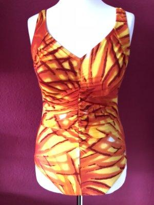 Costume da bagno arancione-giallo Sintetico