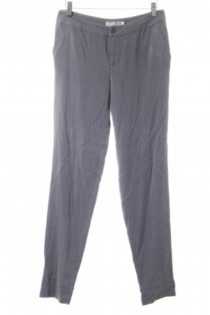 Go by Go Silk Lage taille broek zilver casual uitstraling